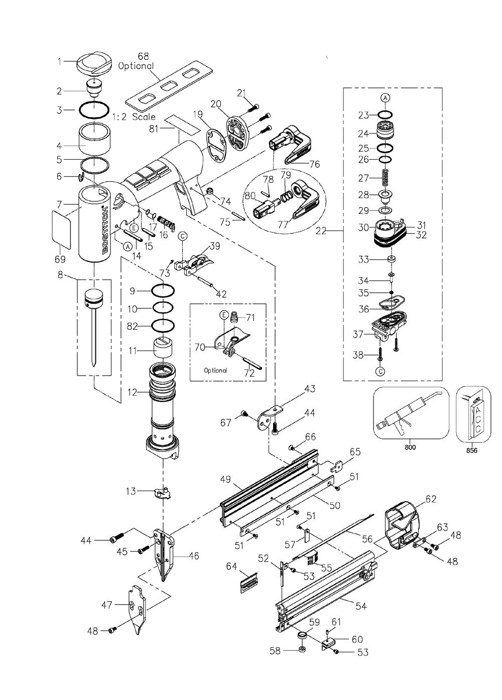 Buy Bostitch HP118K Type-0 23 Gauge Headless Pinner