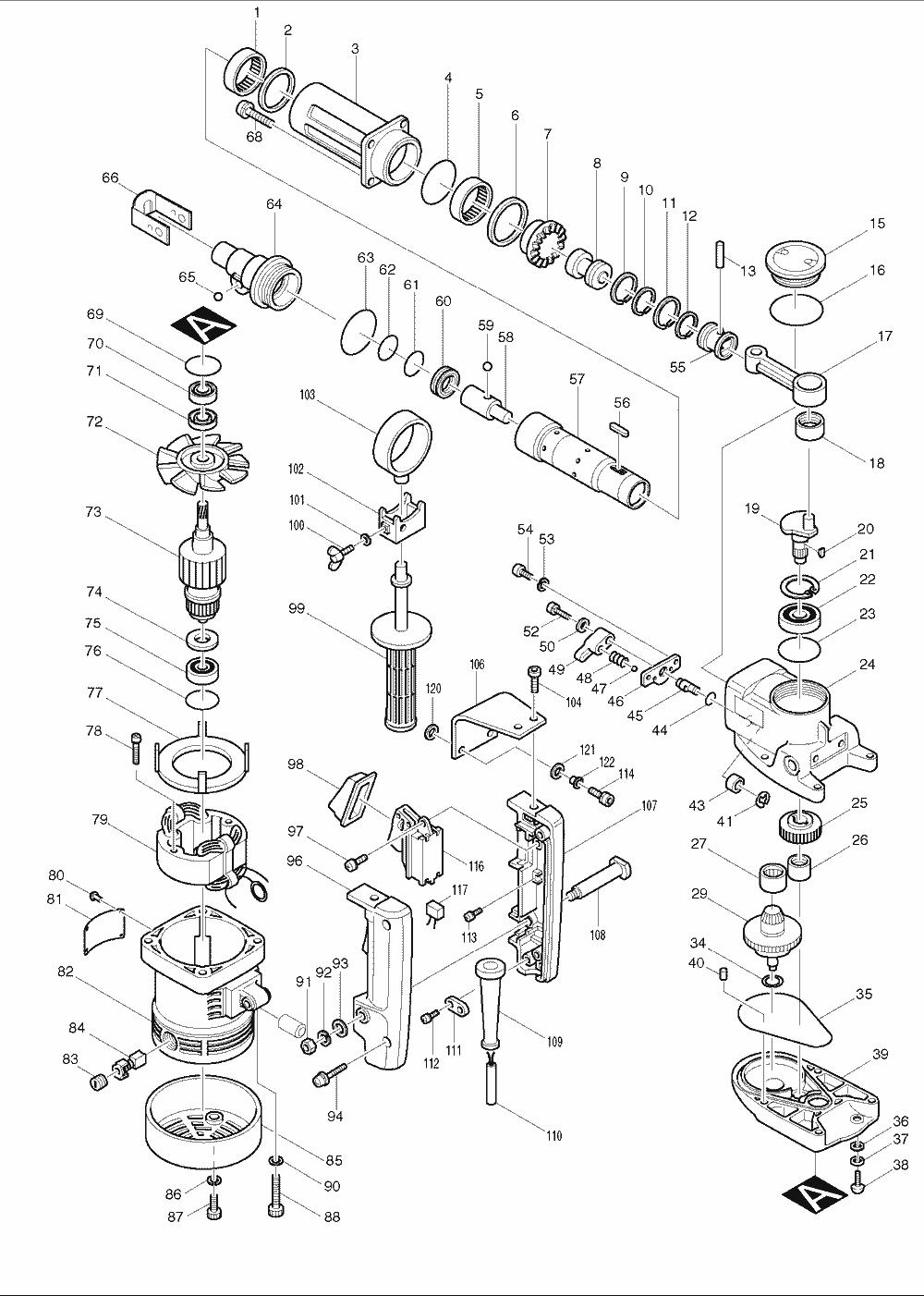 Buy Makita HR3851 1-1/2 Inch Spline Drive, AC/DC