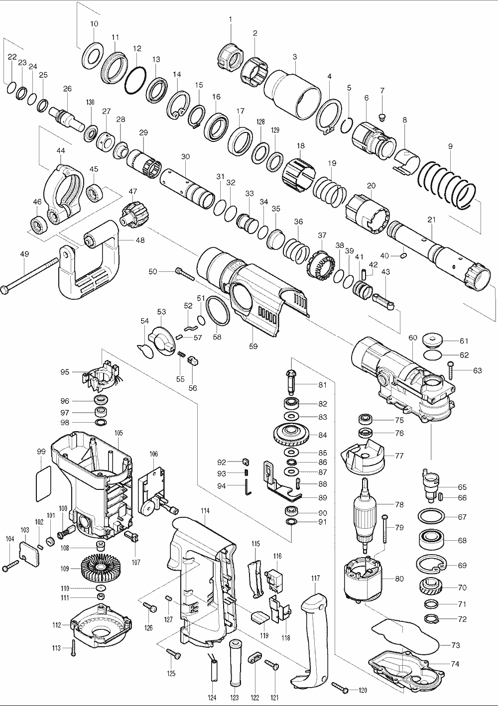Buy Makita HR4040C 1-9/16 Inch Spline Shank Replacement