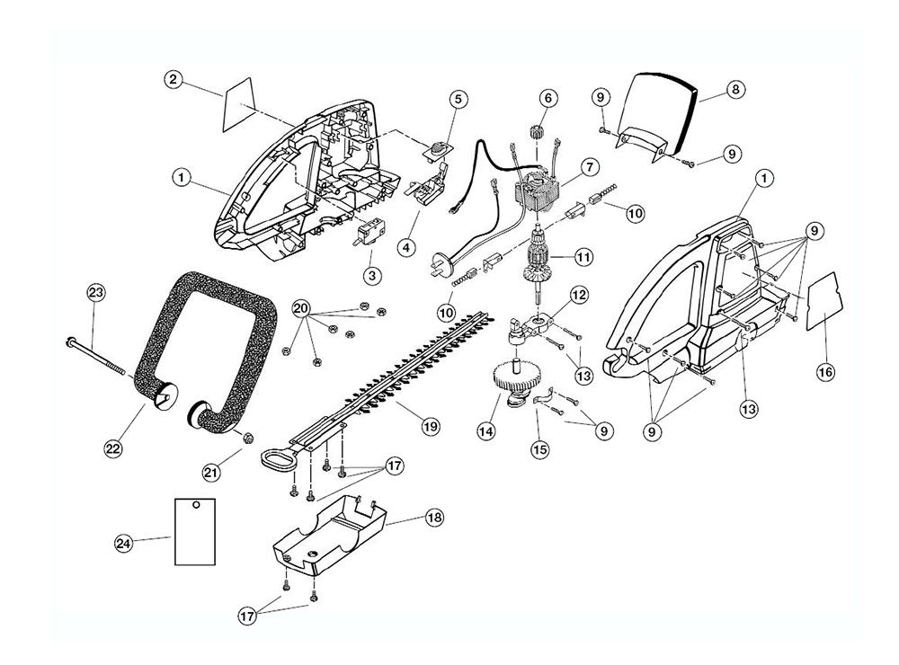 Buy Ryobi HT924DR (101000000) Replacement Tool Parts