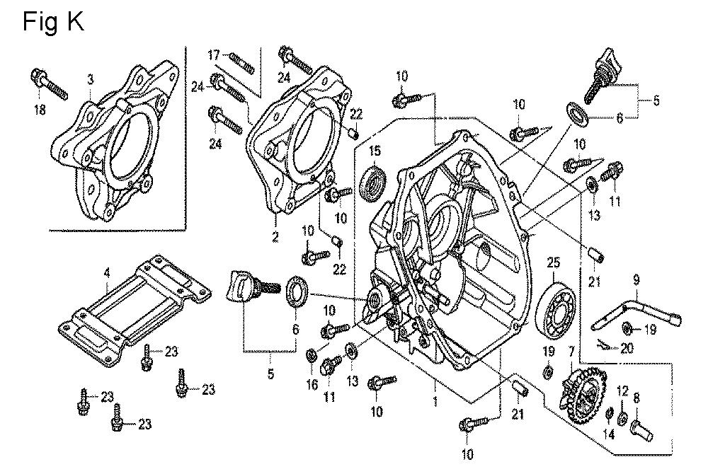Buy Honda GX100U Type-KRBF VIN# GCAGK-1000001) Replacement