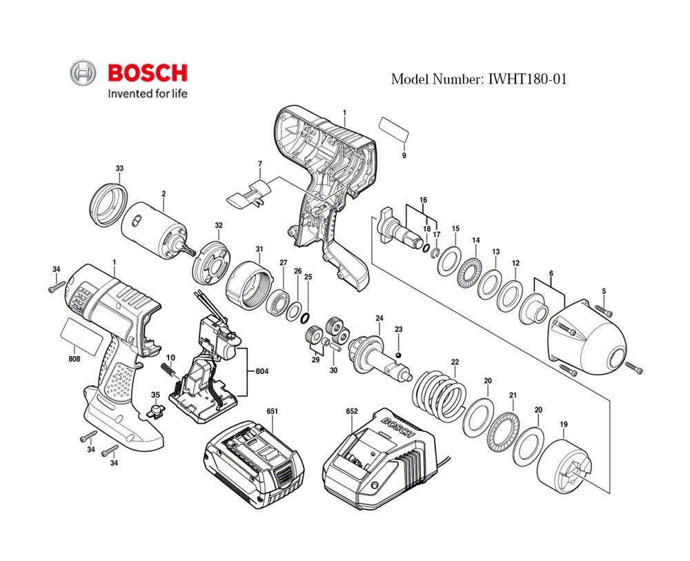 Buy Bosch IWHT180-01-(3601JB1310) 18V Lithium High Torque