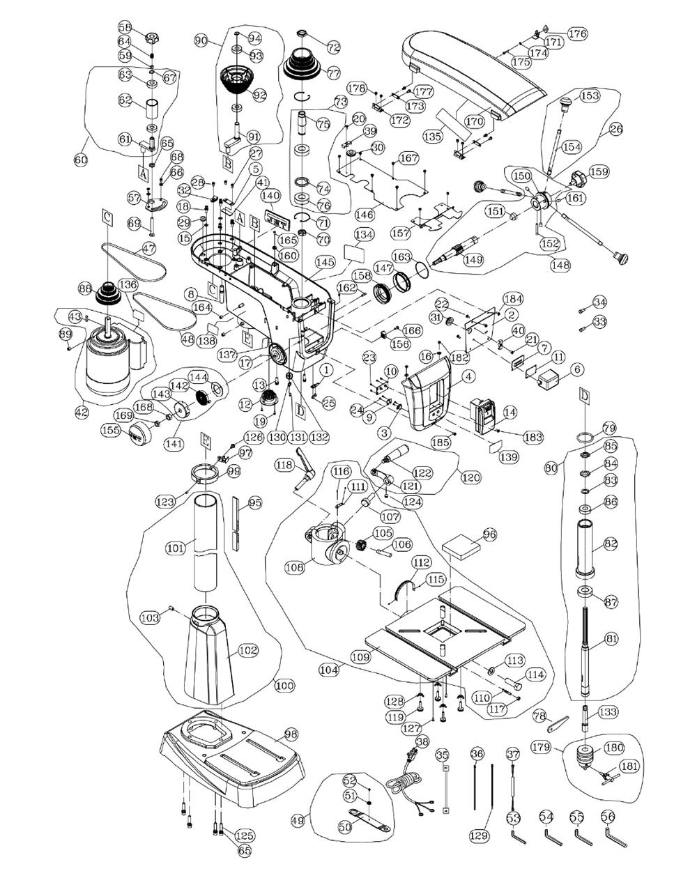 Buy Jet JDP-17-(716300) 16-speed Woodworking Drill Press