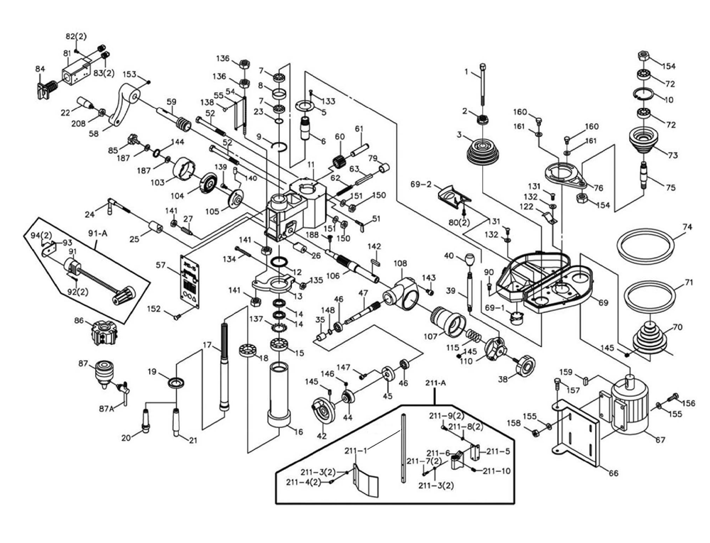Pressure Switch Air Pressor Parts List Diagram, Pressure
