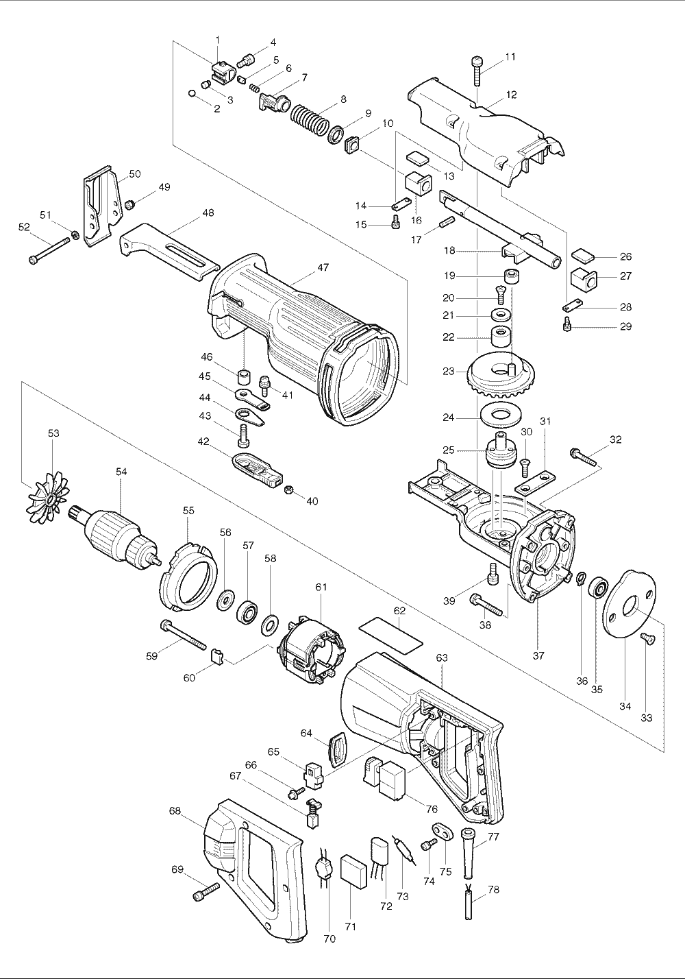 Buy Makita JR3000VT Reciprocating Replacement Tool Parts
