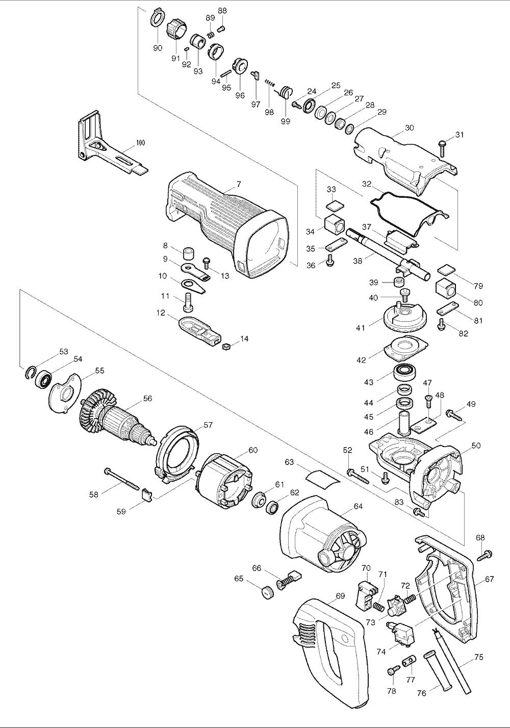 Buy Makita JR3030T Reciprocating Replacement Tool Parts