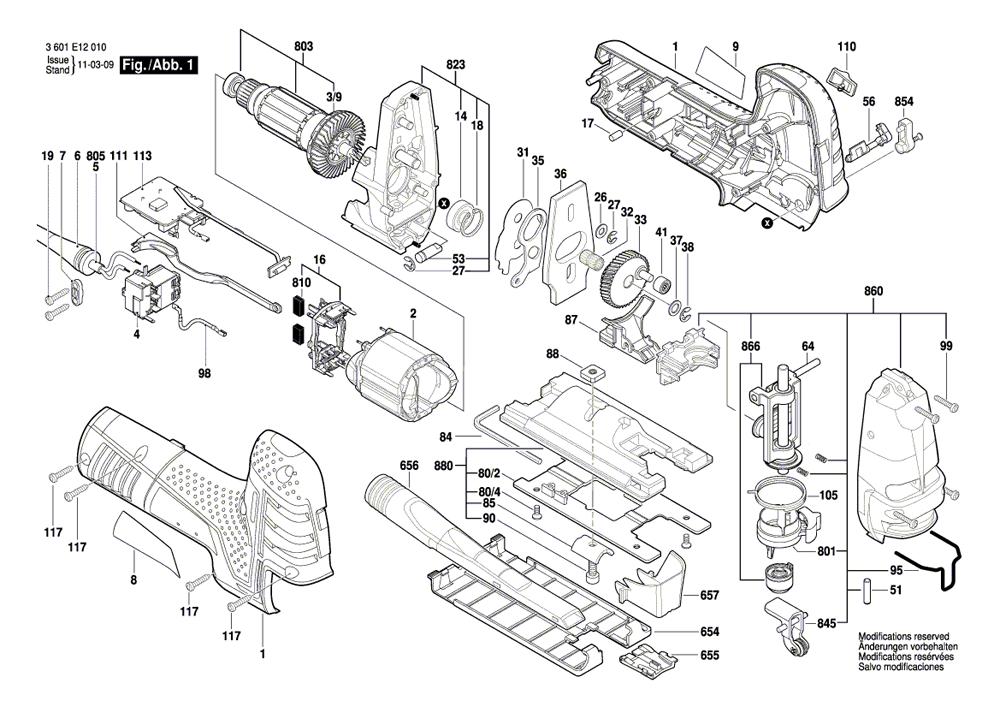 Buy Bosch JS470EB 7.0A Barrel-Grip Jigsaw Replacement Tool