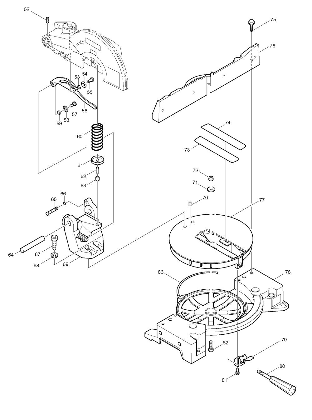 """Buy Makita LS1030N 10"""" Mitre Replacement Tool Parts"""