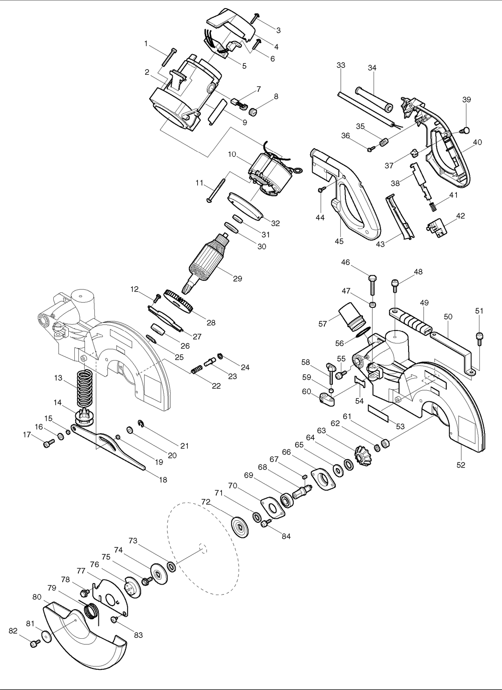 """Buy Makita LS1212 12"""" Slide Mitre Replacement Tool Parts"""