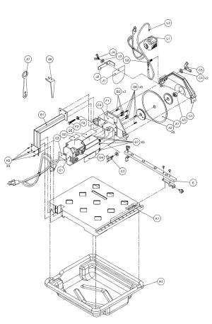 Buy MK Diamond MK170 Replacement Tool Parts | MK Diamond MK170 Tile Saw Parts Diagram