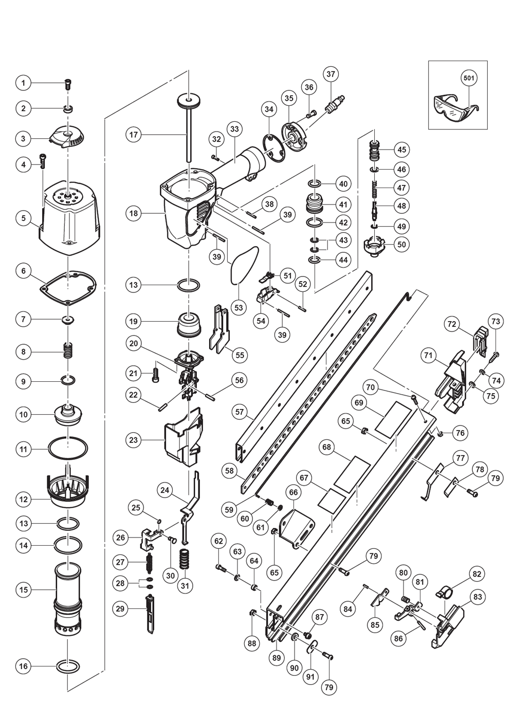 Buy Hitachi NR65AK2(S) 2-1/2 Inch Strap-Tite Fastening