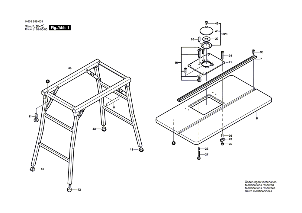 Buy Bosch RA1200 (0603999039) Portable Table Replacement