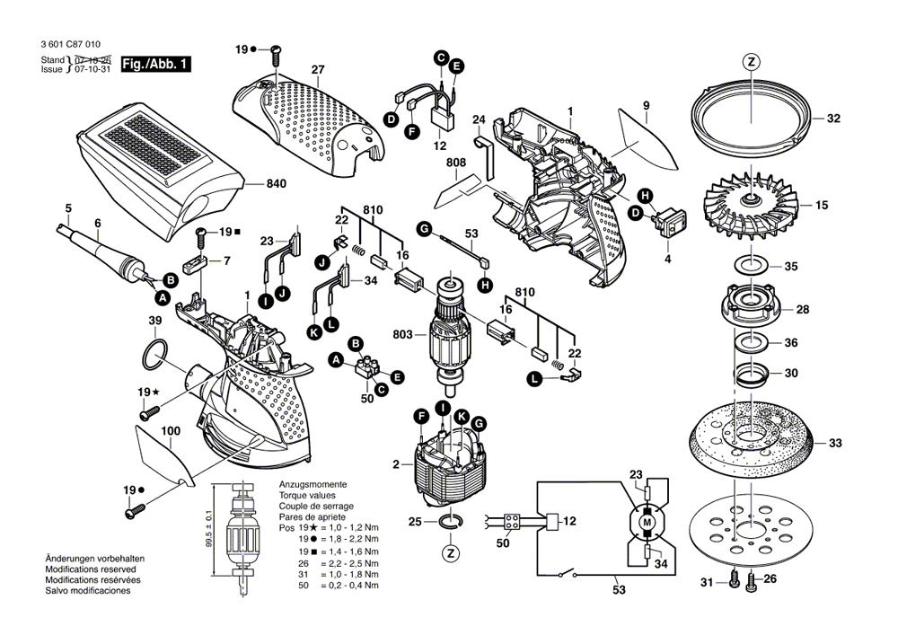 Buy Bosch ROS10 5 Inch Random Orbit Replacement Tool Parts