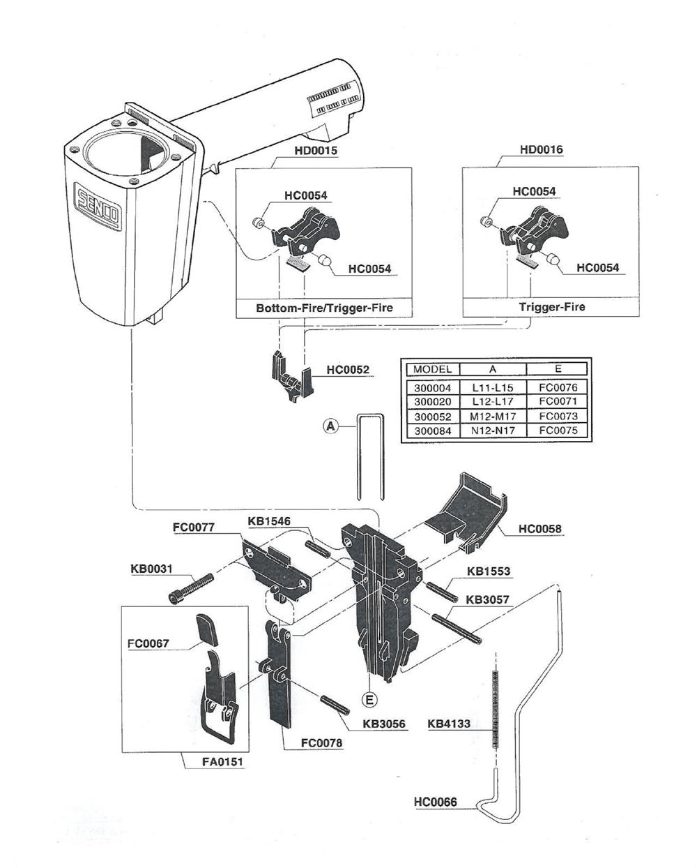 hight resolution of sks schematic wiring librarysks 300020 senco pb 1break down