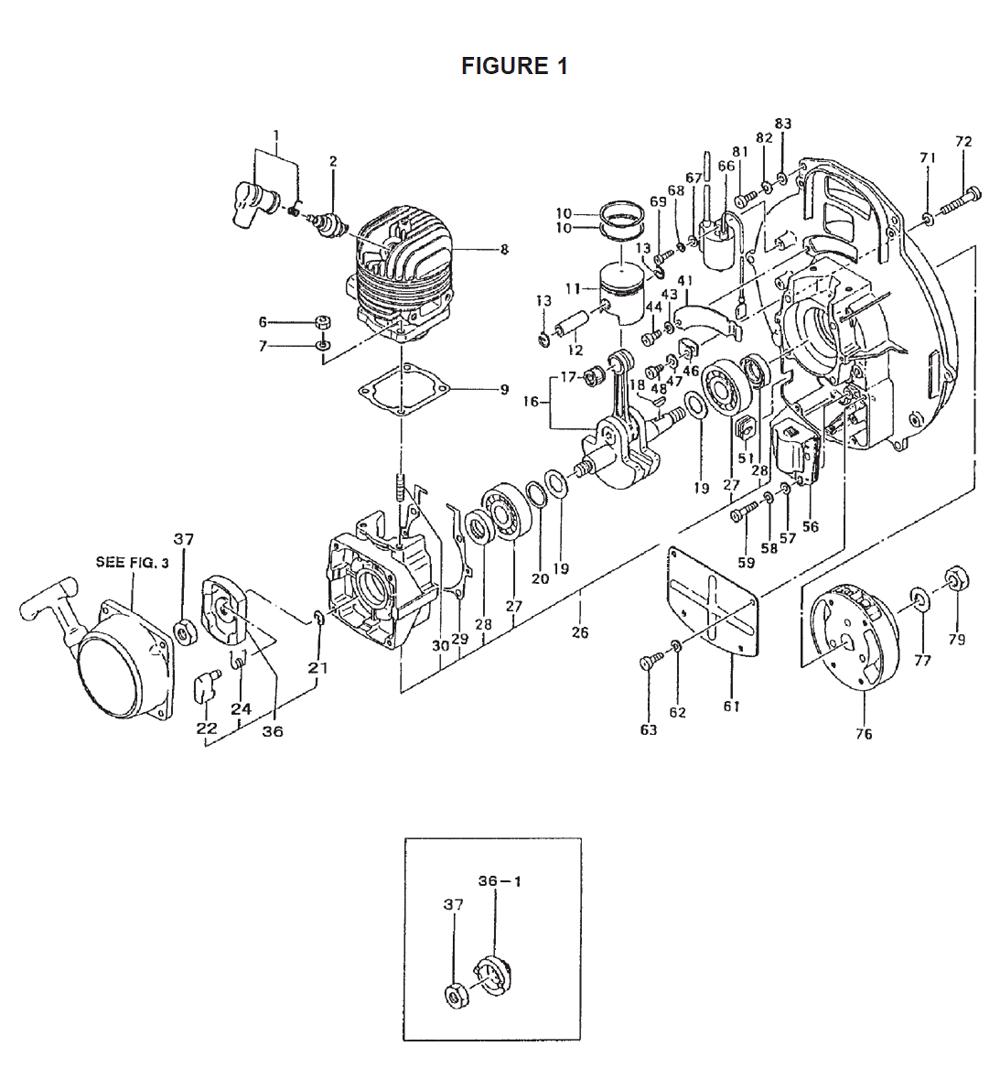 Ryobi Blower Air Filter Schematic, Ryobi, Free Engine