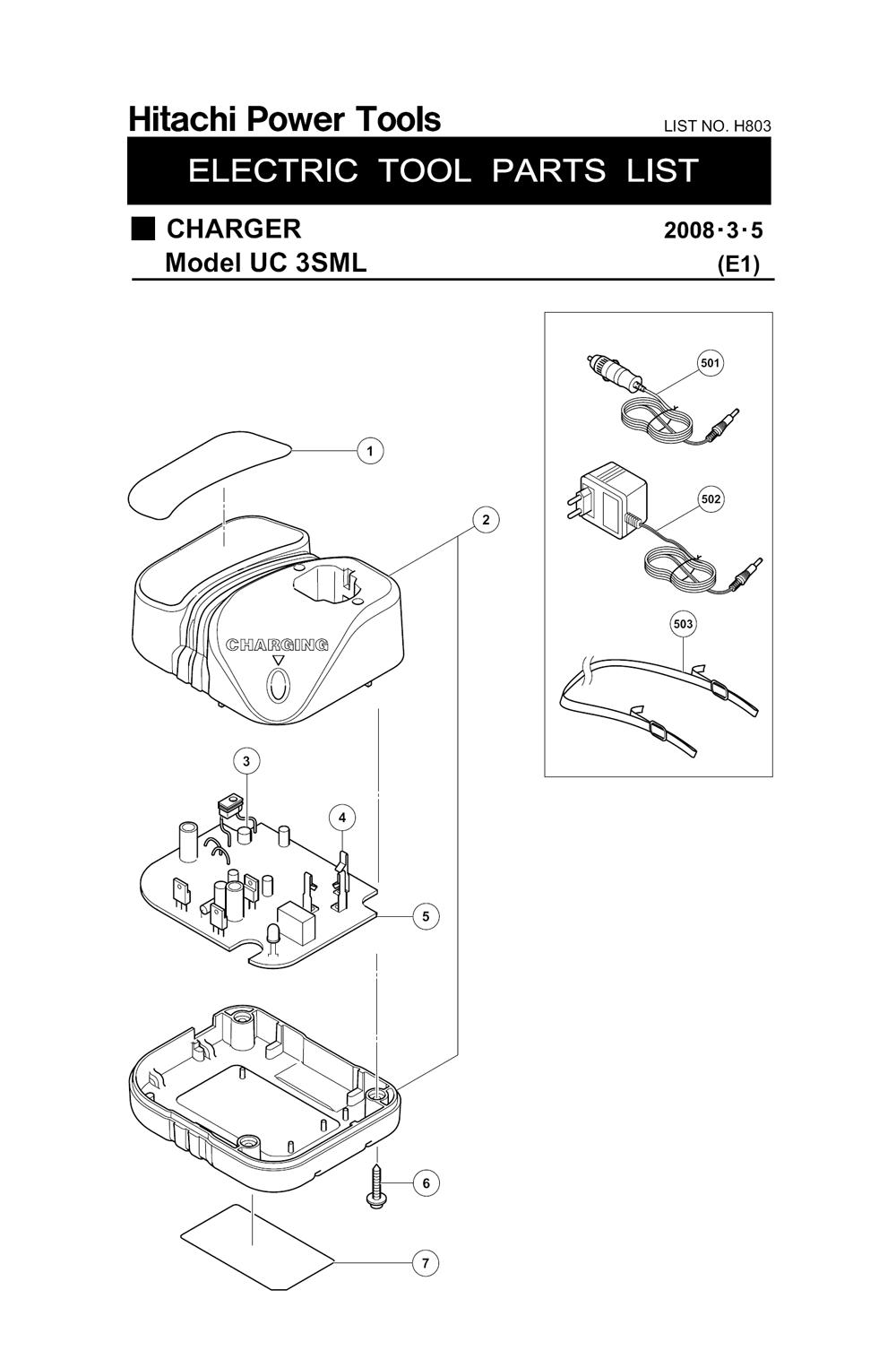 Buy Hitachi UC3SML 3.6-Volt AC / DC Li-Ionbattery Charger