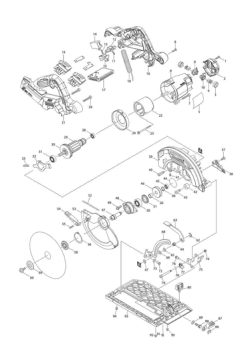 circular saw parts 5007mg circular saw parts