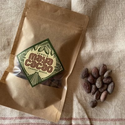 フェアトレードオーガニック MayaCacao マヤカカオ 皮ごと食べれるカカオ豆