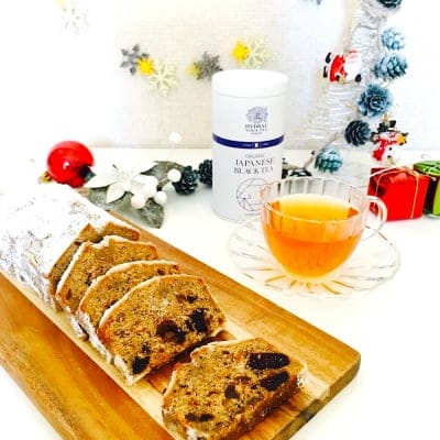【ご予約受付中・数量限定】グルテンフリーで楽しむ新しいクリスマスティータイム|小麦粉不使用のシュトーレンと国産オーガニック紅茶のあたたかいセット|Christmas Tea Party Box|クリスマスギフトセット