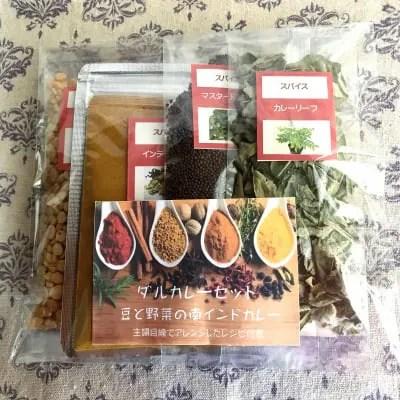 南インドのダル(豆)スープカレーセット2個入り(レシピ付き)