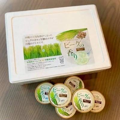 【沖縄生まれのプレミアムアイスクリーム 6個セット】ビーグ(い草)の香り 黒糖とバニラのコク仕立て