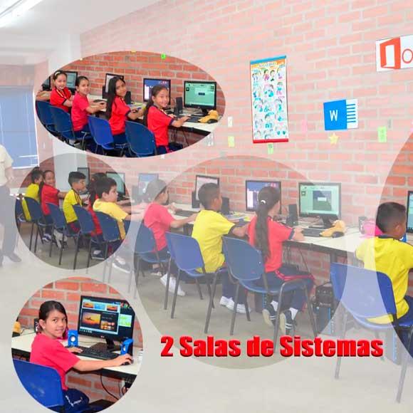 2 salas de sistemas