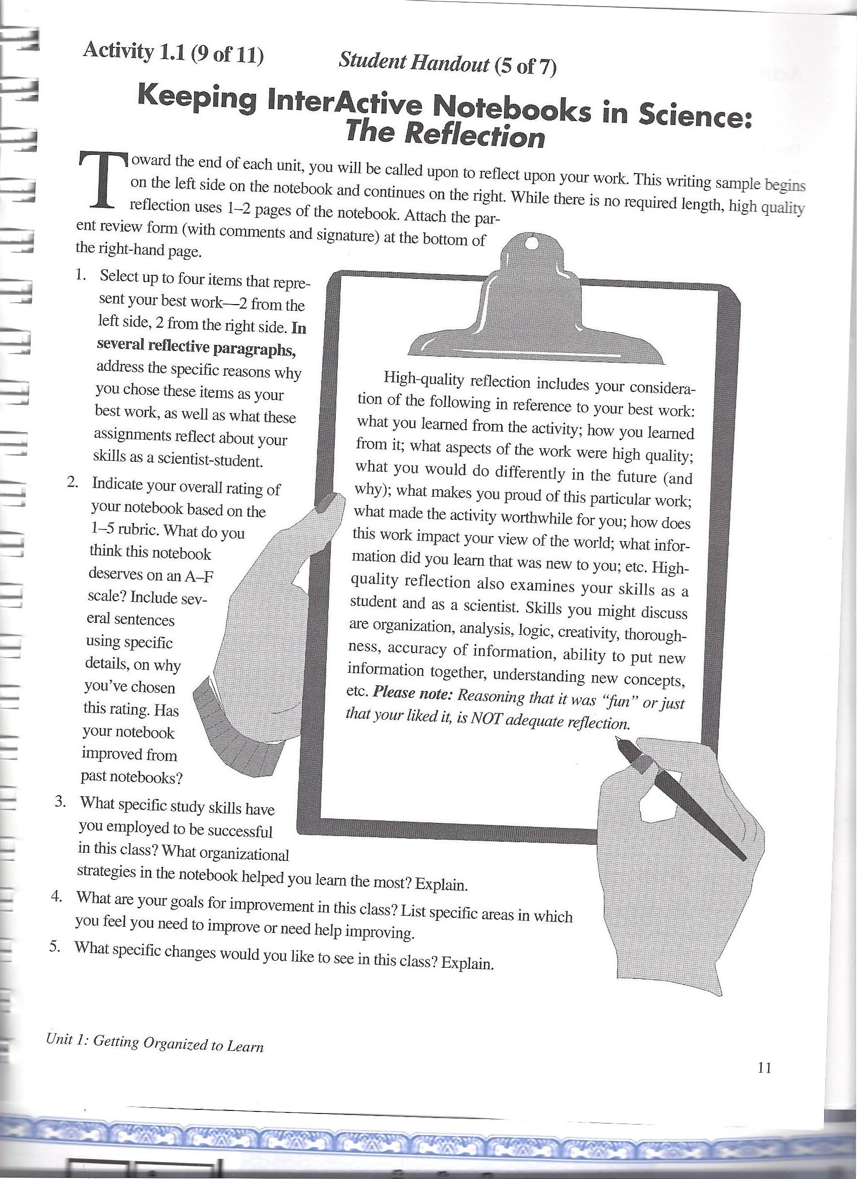 2nd Nine Week Notebook Pages