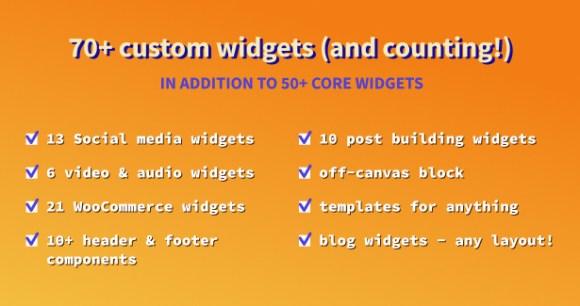 Blogger WordPress Theme Elementor Widgets
