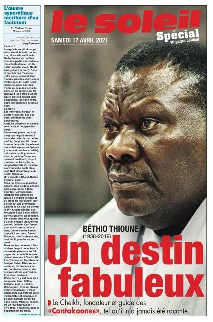 Texte d'anthologie sur Cheikh Béthio Thioune : Yakham Mbaye est-il un Cantakoone caché ?