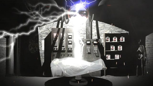 halloween projection laboratory
