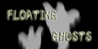 Floating Ghosts Halloween Projection 2015