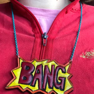 BANG tooled leather necklace