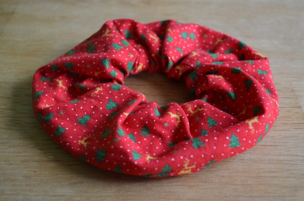 Large Red Christmas Scrunchie