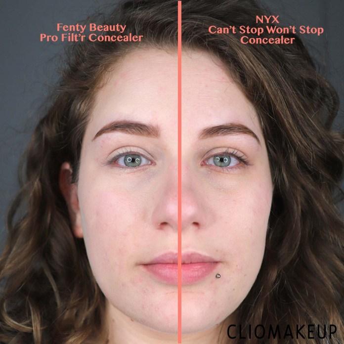 cliomakeup-recensione-dupe-fenty-beauty-pro-filtr-concealer-nyx-cant-stop-wont-stop-concealer-16