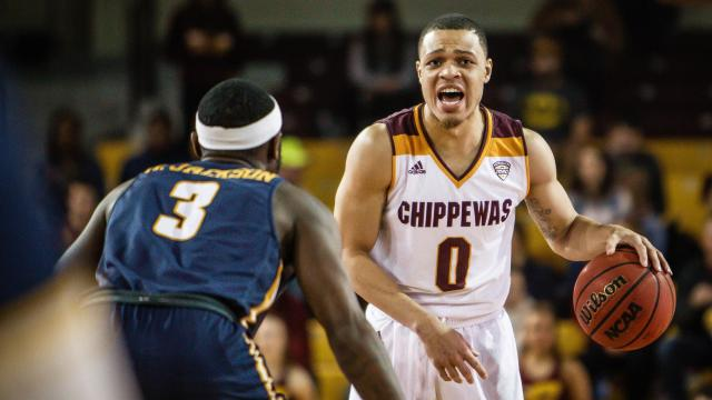 Image result for Central Michigan Chippewas vs. Western Michigan Broncos College Basketball 2019