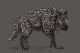This is one of many monsters in the forest surrounding Antiiss' village. He is a wolf mixed with a porcupine and is nearly blind.