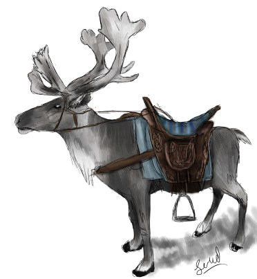 Caribou are the major form of transportation.