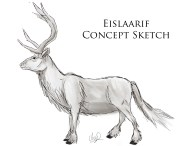 This is a creation of mine which will serve as transportation for those in my novel. They are part caribou, part deer, part horse. I might make the snout longer, though.