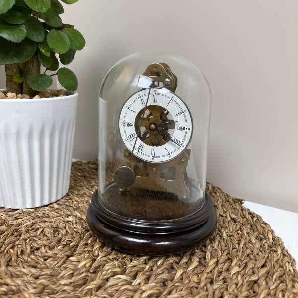 純銅手動座枱鐘