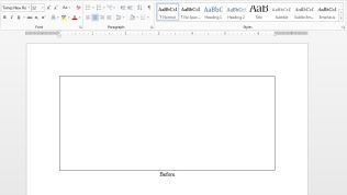 MS Word-Before