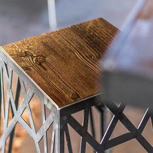 Chaise en métal et bois style industriel Atelier Simon, fabriquée en France