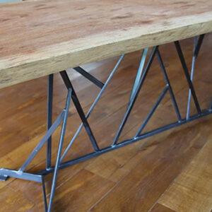 Table style industriel bois etc métal Atelier Simon, fabriqué en France