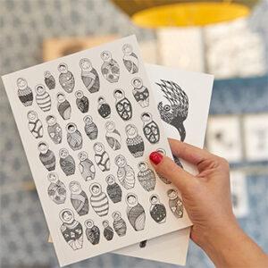 Papeterie stickers Atelier Mouti, fabriqués en France