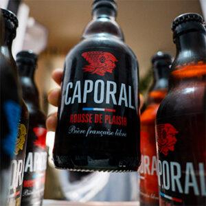 Bière rousse de plaisir Brasserie Caporal, fabriqué en France
