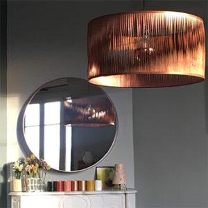Luminaire en feuille de bois Sophie Pinard, fabriqué en France