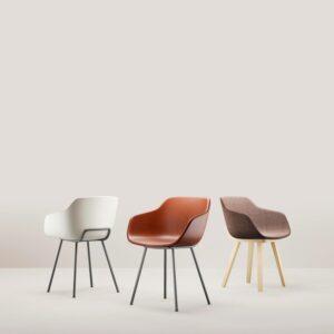 Chaises bois et acier Alki, fabriquées en France dans le Pays-Basque