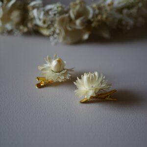 Bijoux boucles d'oreilles en fleurs Atelier Garlantez, fabriqués en France