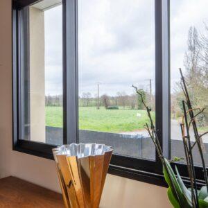 Fenêtre noire Bochassy, fabriquée en France en Normandie