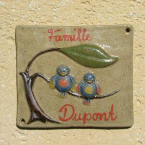 Plaque de maison Poterie Anna & Ingo Göden, fabriquée dans le Cher