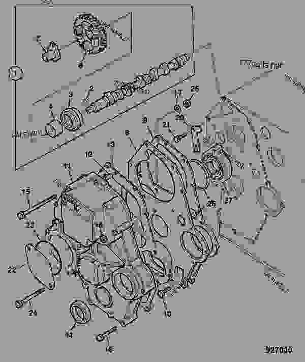 TIMING CASE, CAMSHAFT & GEARS, 403D-11 TIER-3
